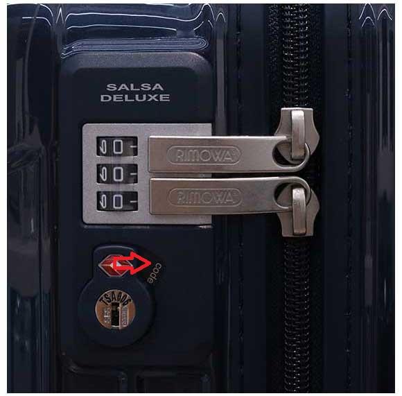TSA zámok kufru Rimowa varianta A
