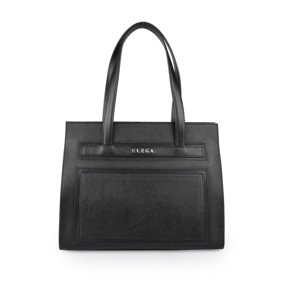 Elega Dámská kožená kabelka přes rameno Isabel 69240 - černá
