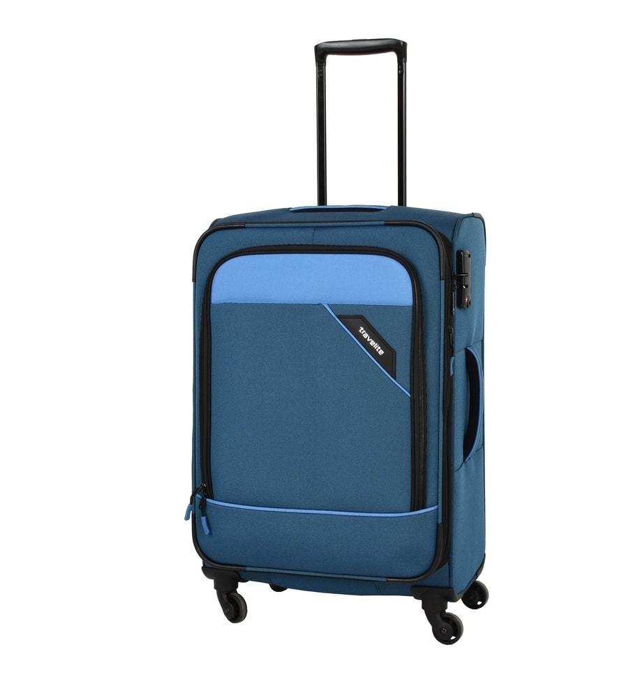 Travelite Cestovní kufr Derby 4w M Blue 87548-20 69/79 l