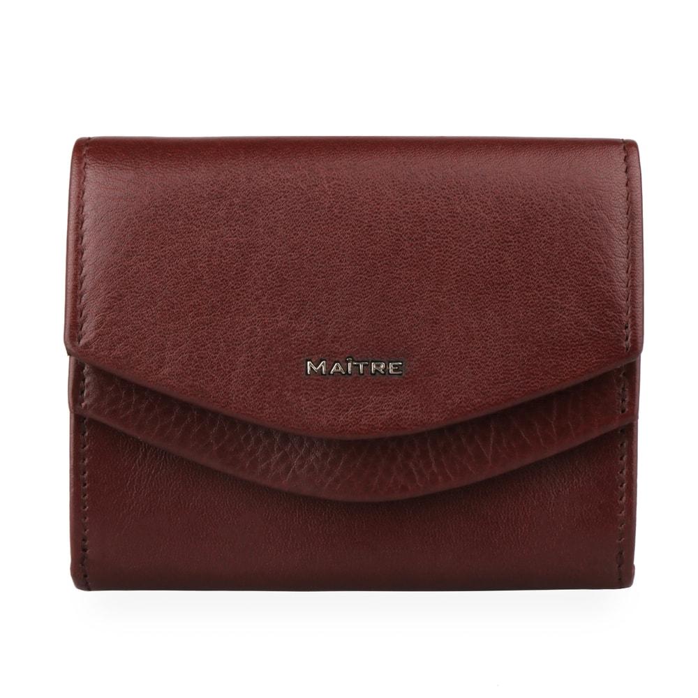 Maitre Dámská kožená peněženka Leisel Deda 4060001564 - tmavě hnědá
