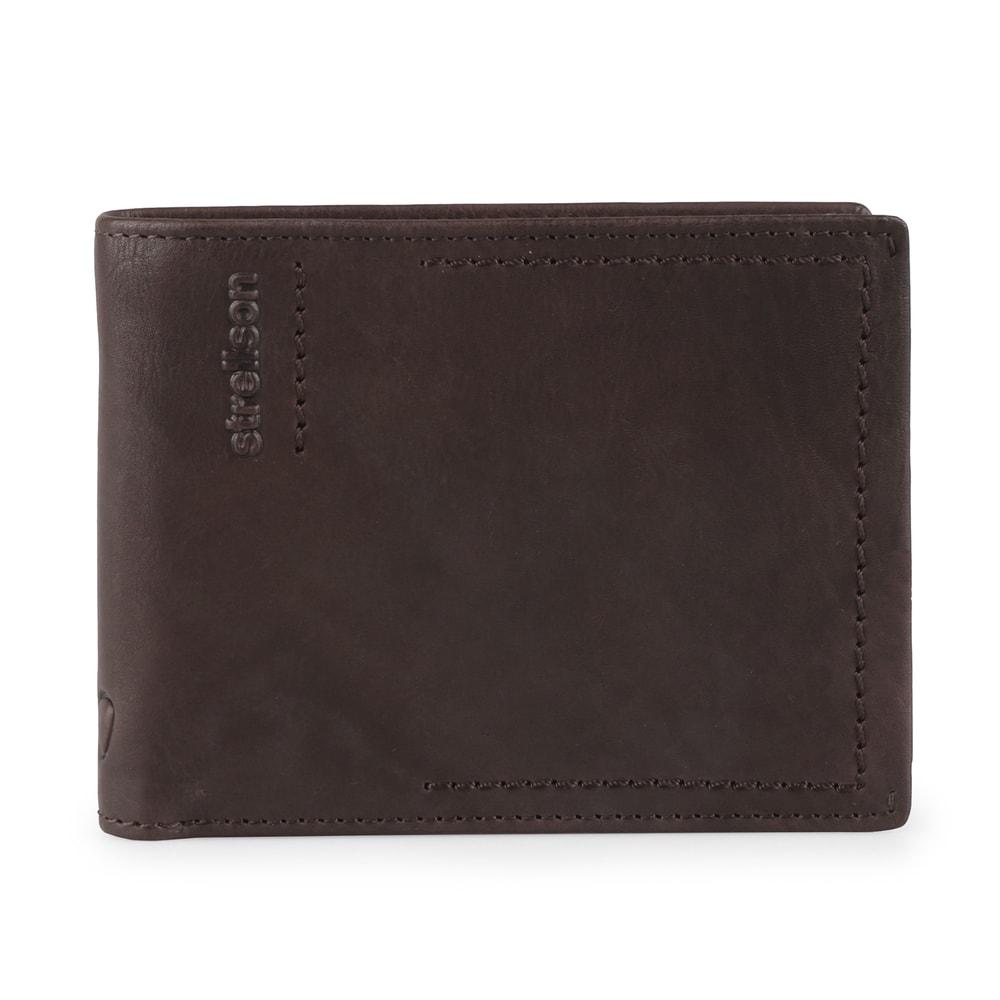 Strellson Pánská kožená peněženka Norton 4010002439 - tmavě hnědá