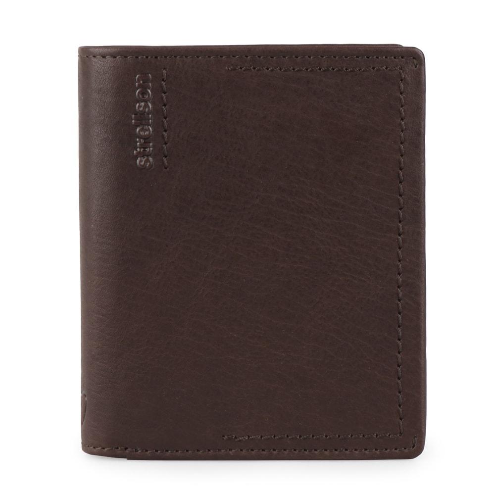 Strellson Pánská kožená peněženka Norton 4010002442 - tmavě hnědá