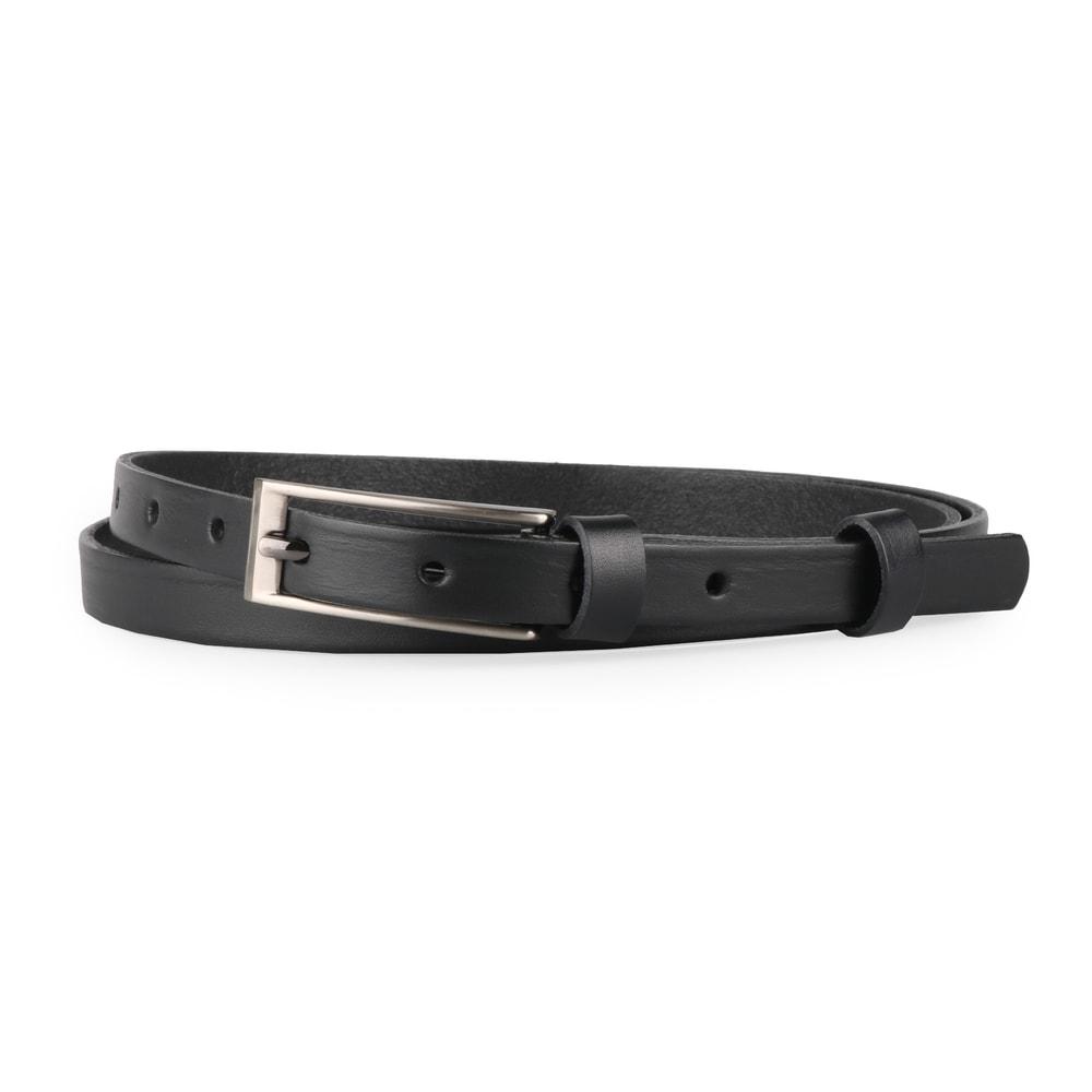 Penny Belts Dámský úzký kožený opasek 15-1-60 černý - 85