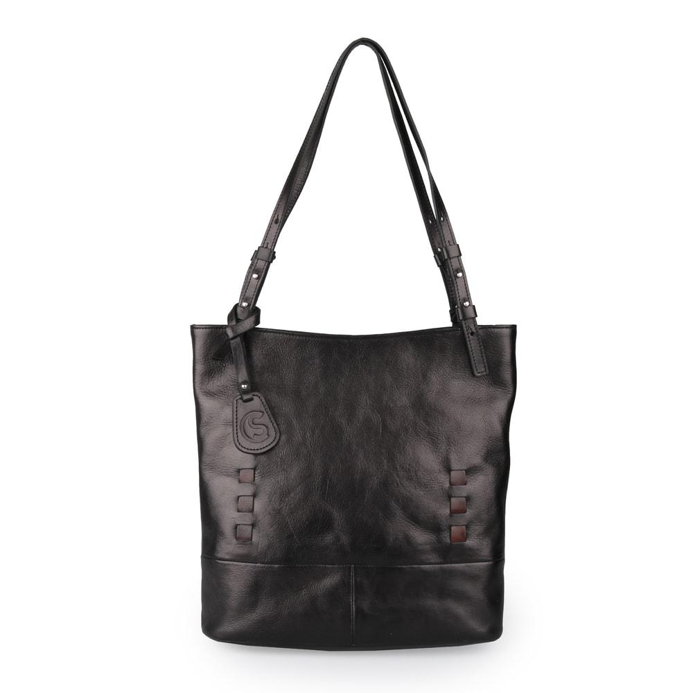 Sněžka Náchod Dámská kožená kabelka přes rameno 5060 - černá
