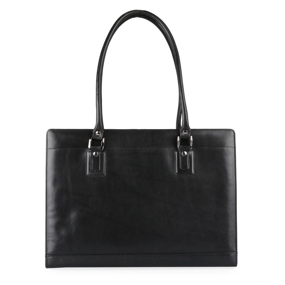 Hajn Dámská kožená kabelka přes rameno 1299213 černá