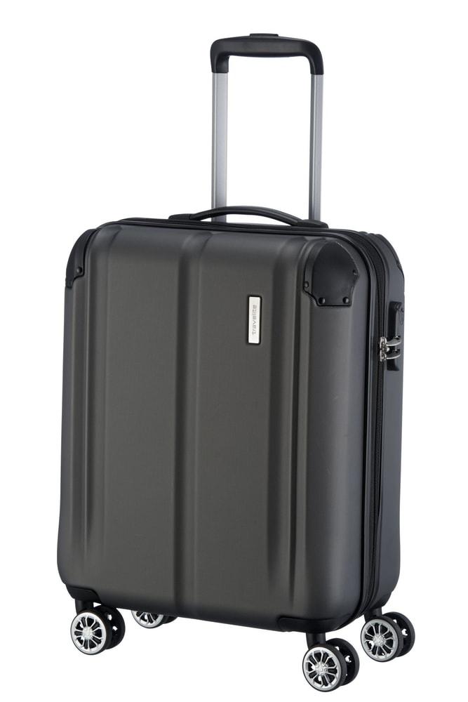 Travelite Kabinový cestovní kufr City 4w S Anthracite 40 l