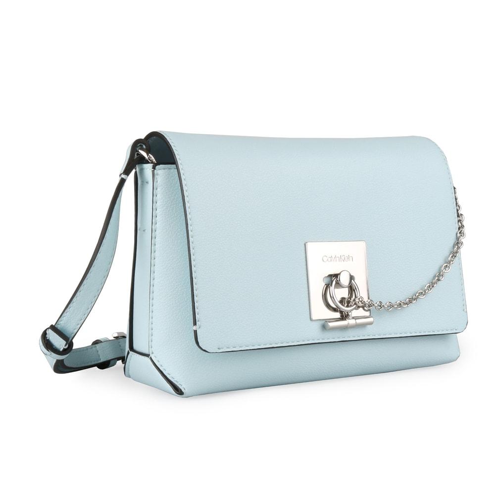Calvin Klein Dámská crossbody kabelka CK Lock Medium Flap K60K605061 -  světle modrá b5638da9148