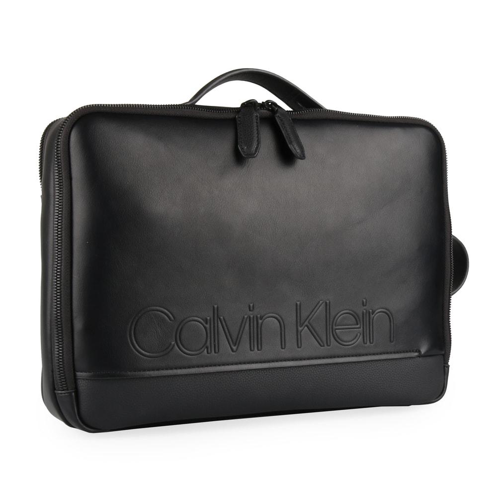 Calvin Klein Pánská taška na notebook/batoh 2v1 Elevated Logo Convertible K50K503882 - černá
