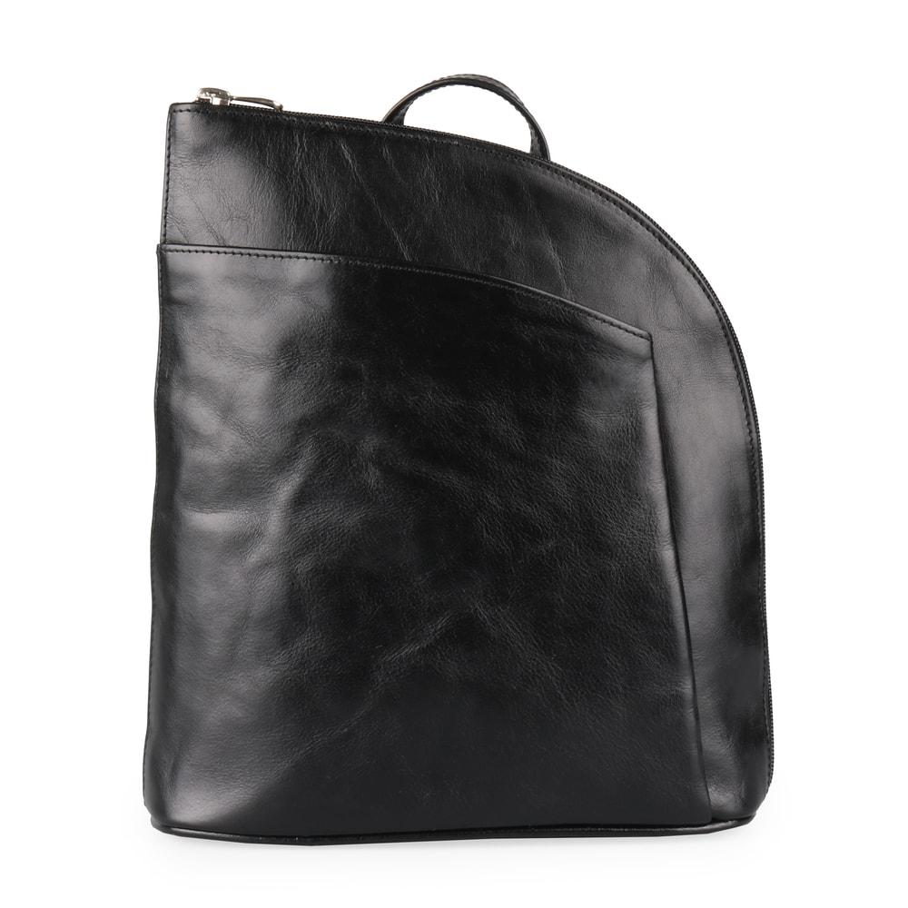 Sněžka Náchod Dámský kožený batoh 5114 - černá
