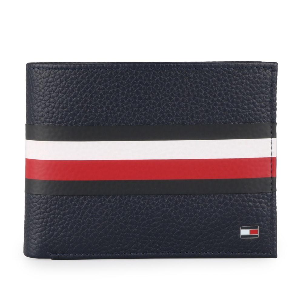 Tommy Hilfiger Pánská kožená peněženka Block Stripe Extra C AM0AM03853 - tmavě modrá