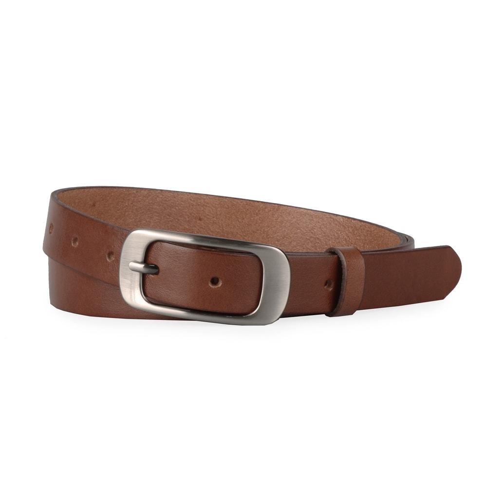 Penny Belts Dámský kožený pásek 17348 - hnědý