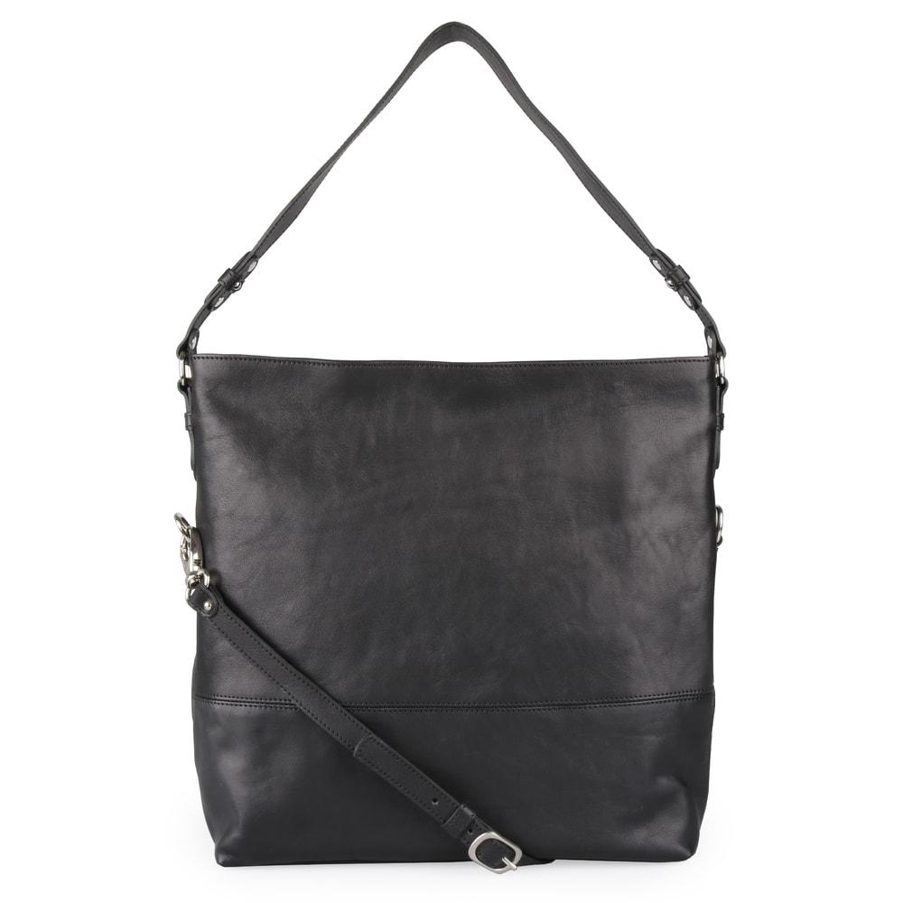 Sněžka Náchod Dámská kožená kabelka přes rameno 5091 - černá