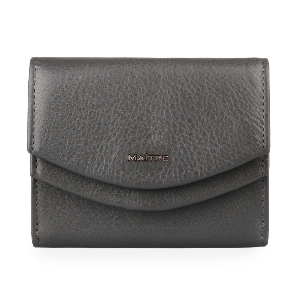 Maitre Dámská kožená peněženka Leisel Deda 4060001564 - tmavě šedá
