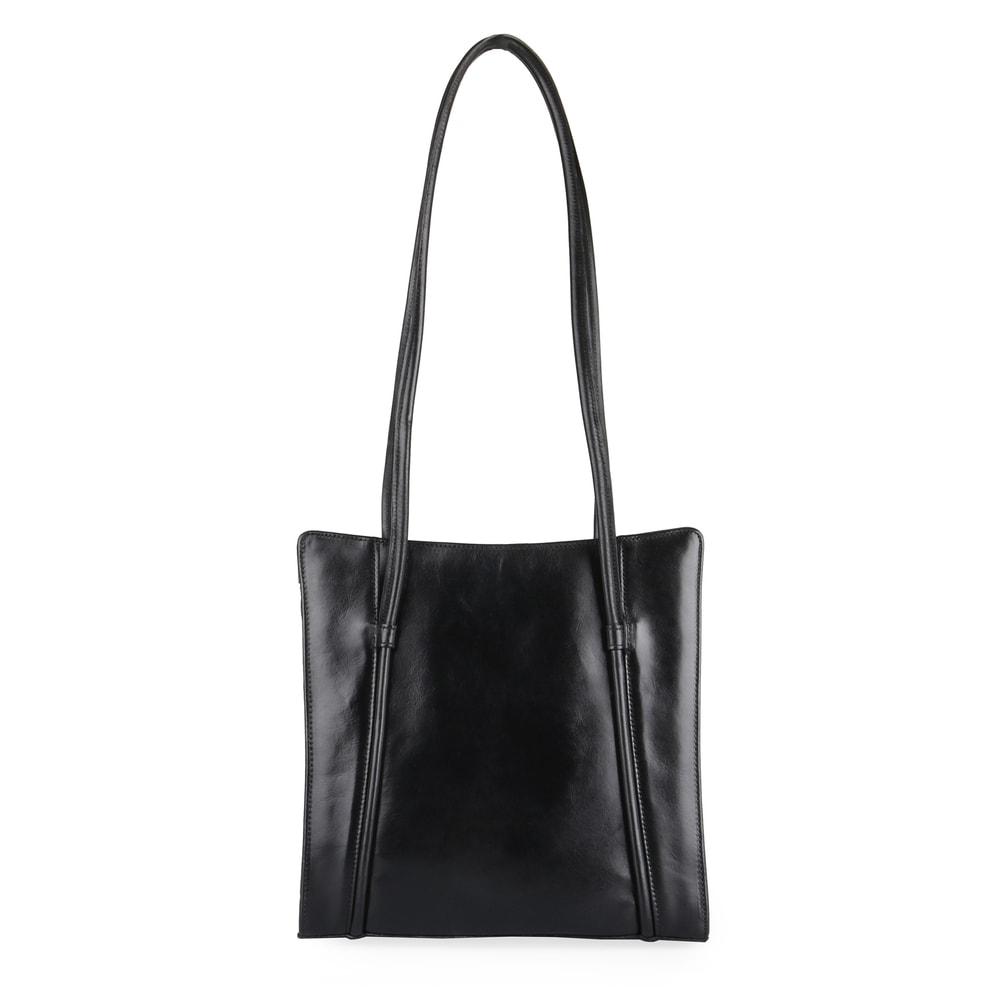 Hajn Dámská kožená kabelka přes rameno 1056013 černá