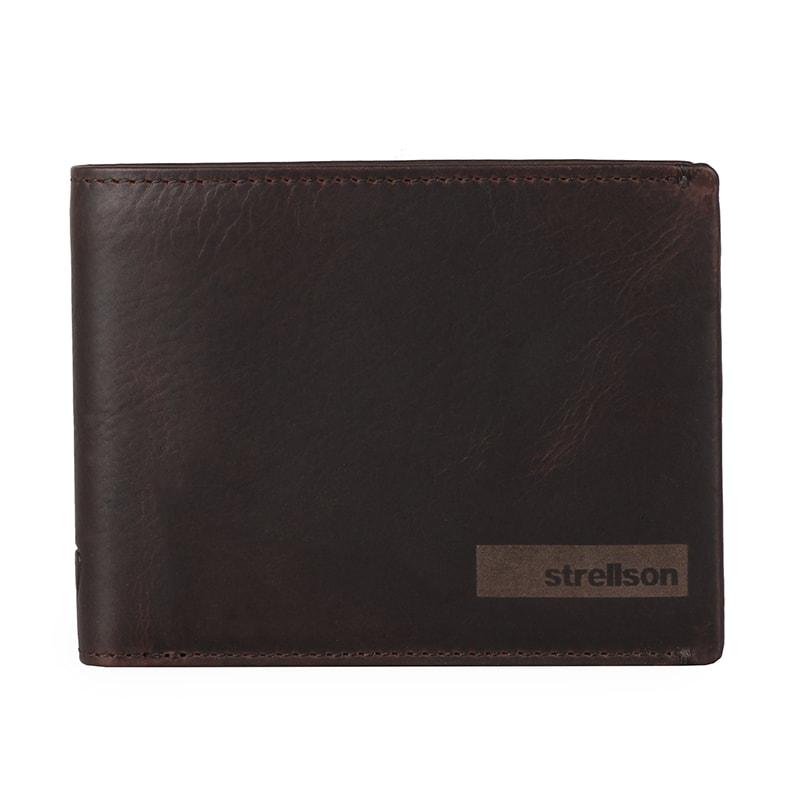 Strellson Pánská kožená peněženka Goldhawk 4010002301 - tmavě hnědá
