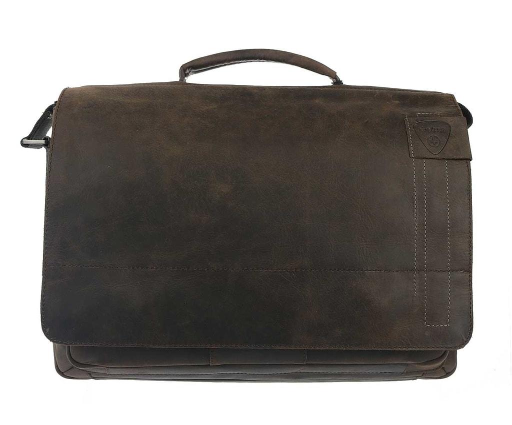 Pánská stylová velká taška ve tmavě hnědé barvě. a6a550c2800