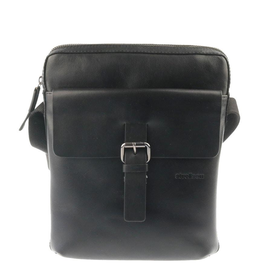 Strellson Pánská kožená taška přes rameno 4010002034, černá