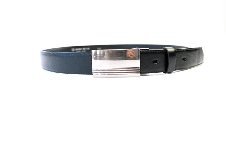 Penny Belts Pánský kožený opasek 30/020/2PS, černý