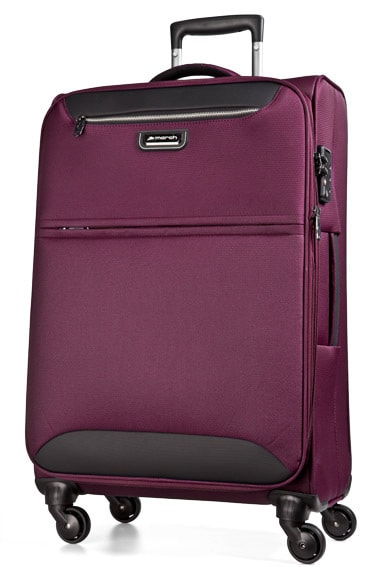 March Cestovní kufr Flybird 97/114 l - fialová
