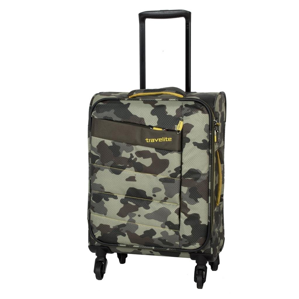Travelite Kabinový cestovní kufr Kite 4w S Camouflage 36 l