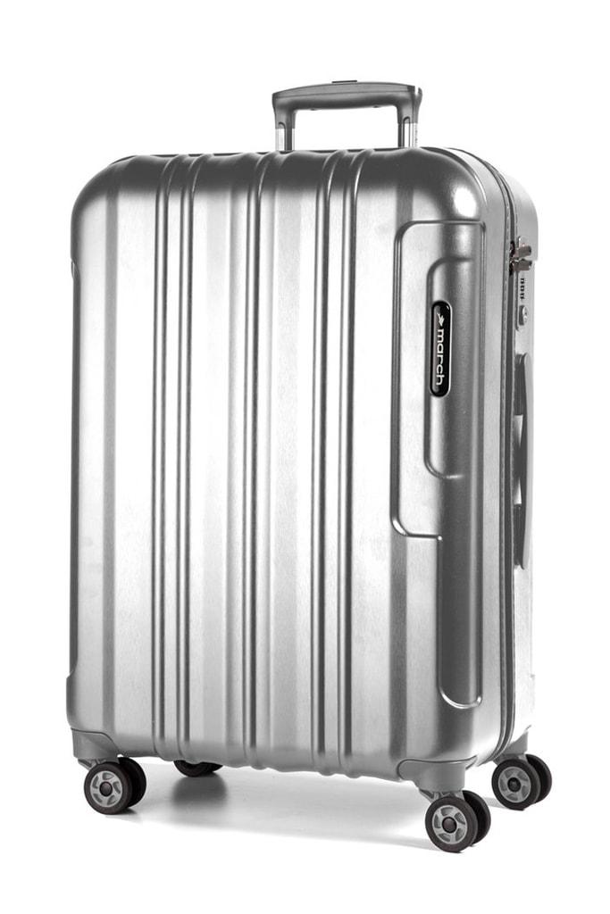 March Cestovní kufr Cosmopolitan Special Edition 69 l - stříbrná