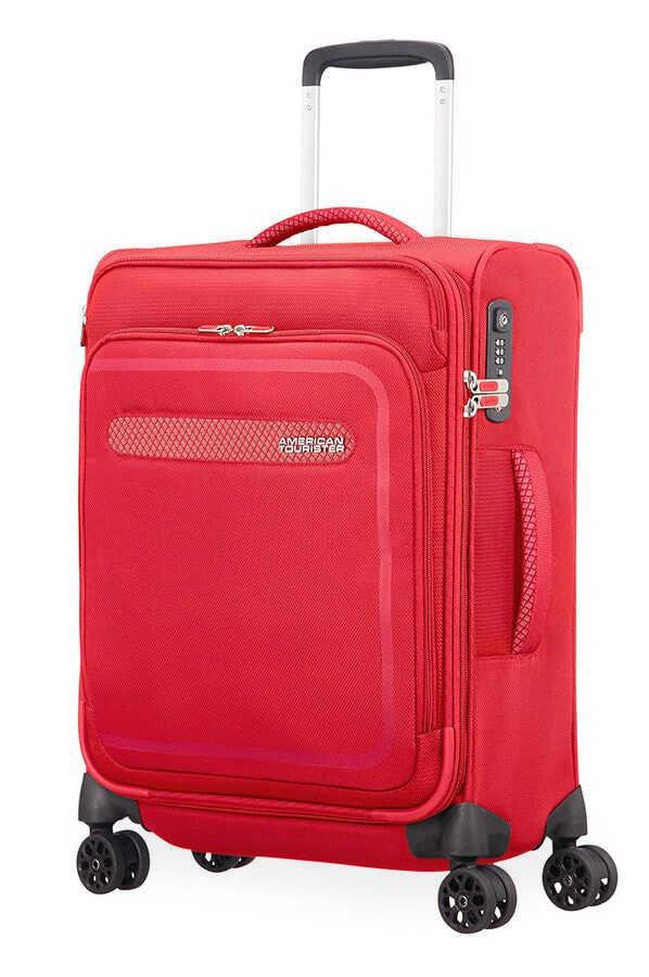 American Tourister Kabinový cestovní kufr AirBeat Spinner EXP 45G 40/43 l - červená