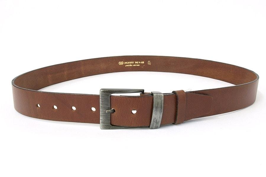 Penny Belts Pánský kožený opasek 08R42, světle hnědá