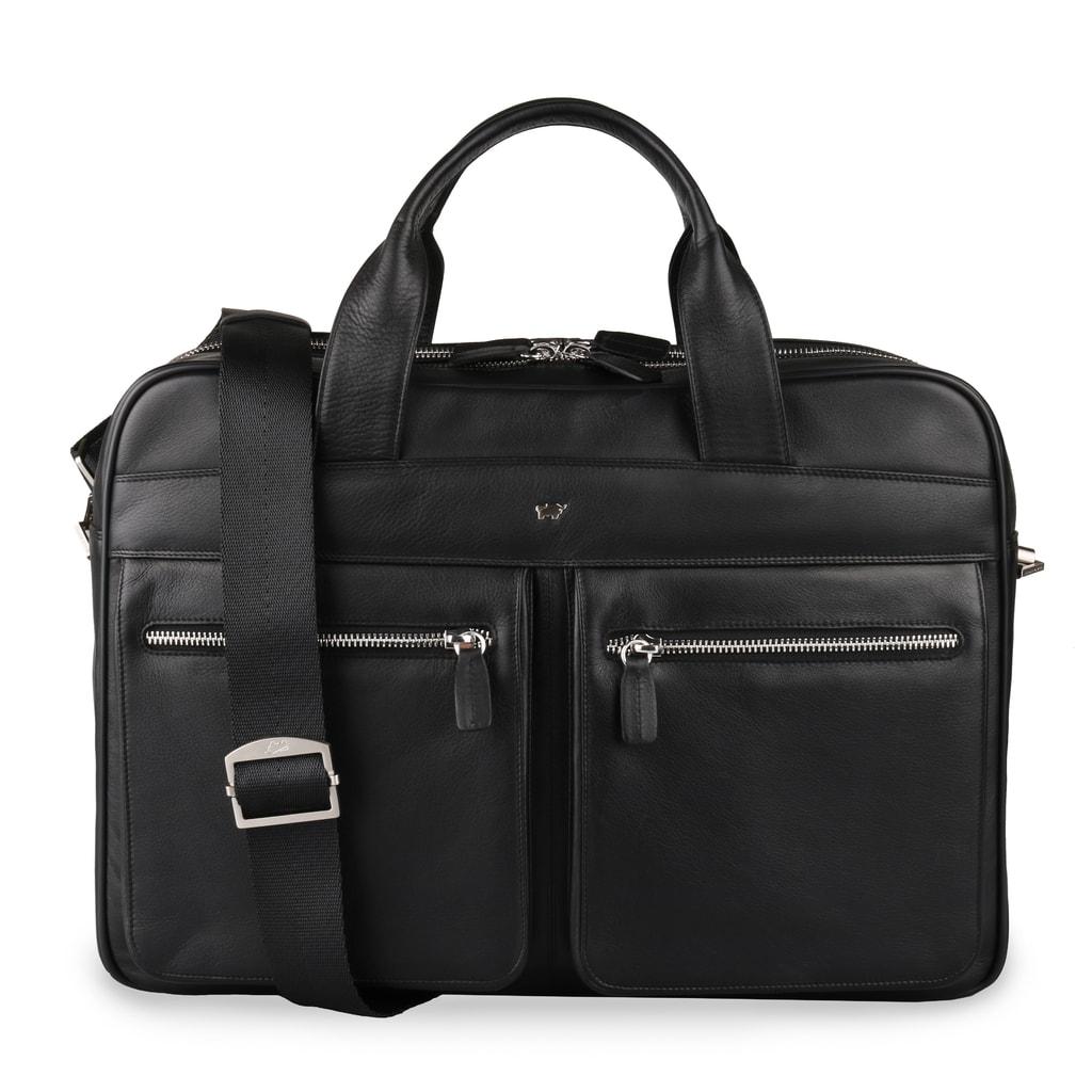 Braun Büffel Pánská kožená taška přes rameno golf 92637-051 - černá