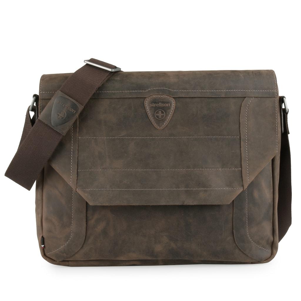 Pánská kožená taška přes rameno luxusní švýcarské značky Strellson vás  nadchne svými skvělými organizačními prvky a prvotřídní kvalitou. 392edbf06b