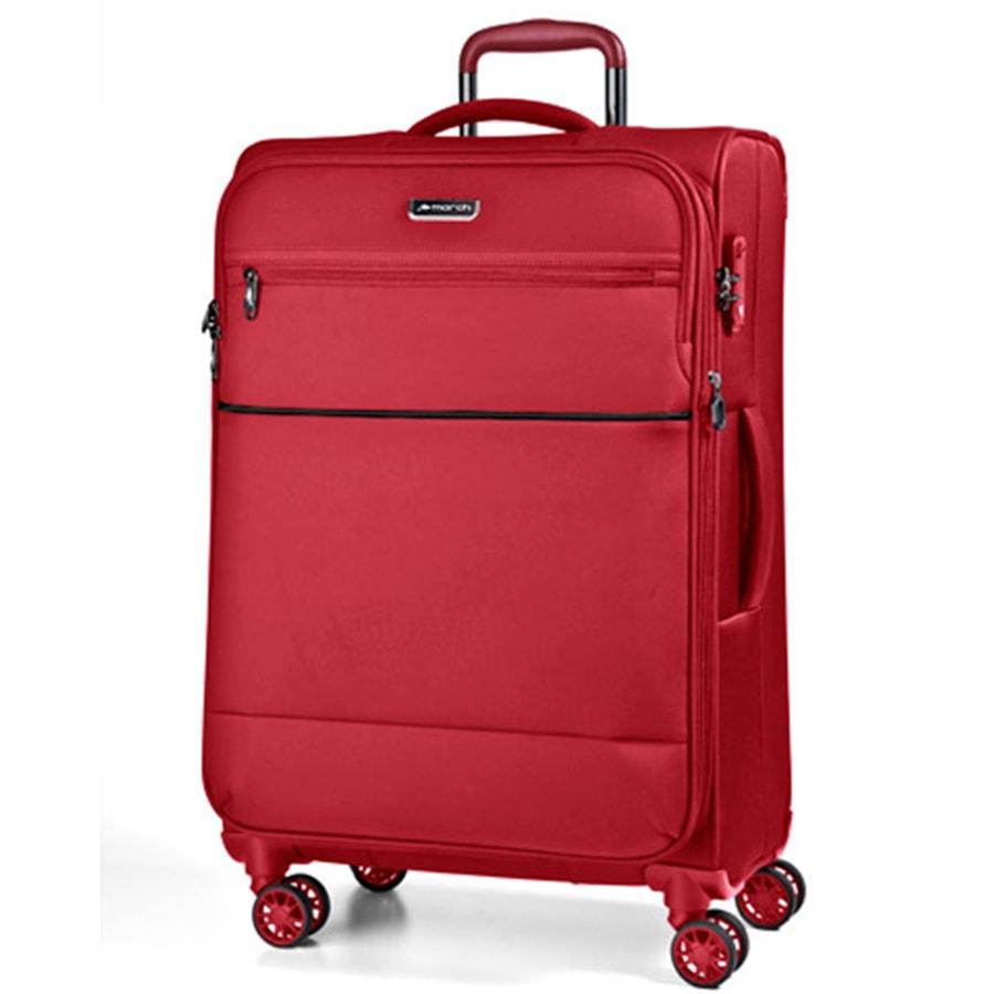 March Velký cestovní kufr Easy 104 l - červená