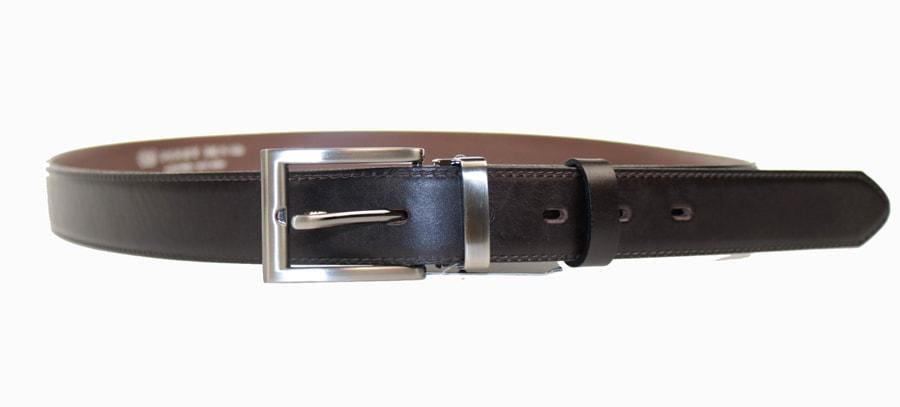 Penny Belts Pánský kožený opasek 30/020/2, černý