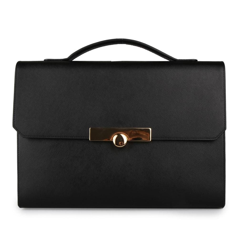 Elega Dámská kožená kabelka Pharoh 69238 - černá