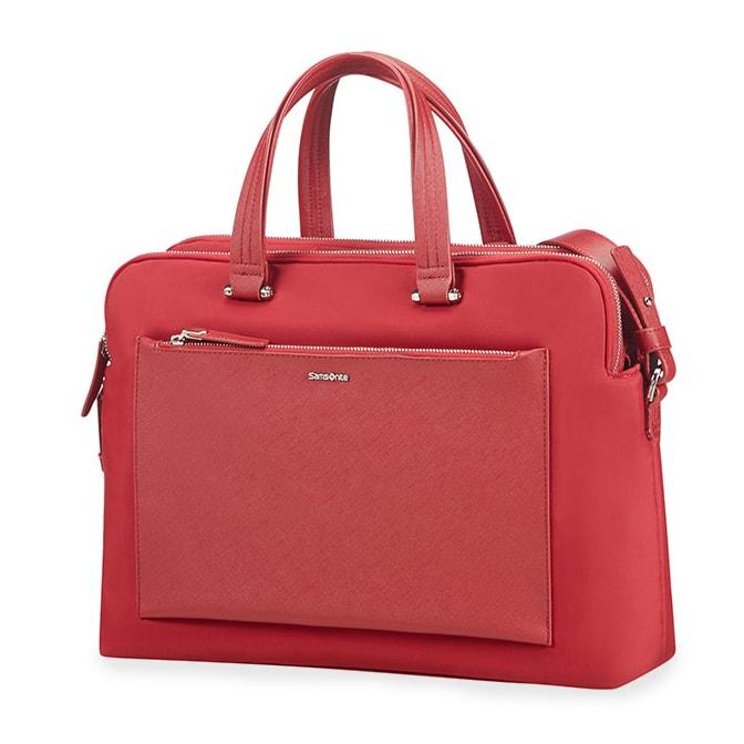 """Samsonite Dámská taška na notebook Zalia 85D-004 14.1"""" - červená 85D*004-00"""