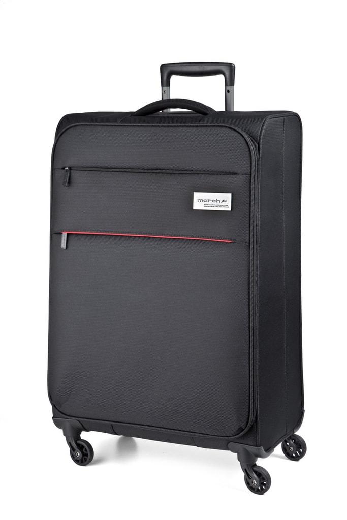 March Kabinový cestovní kufr Polo 34,5 l - černá