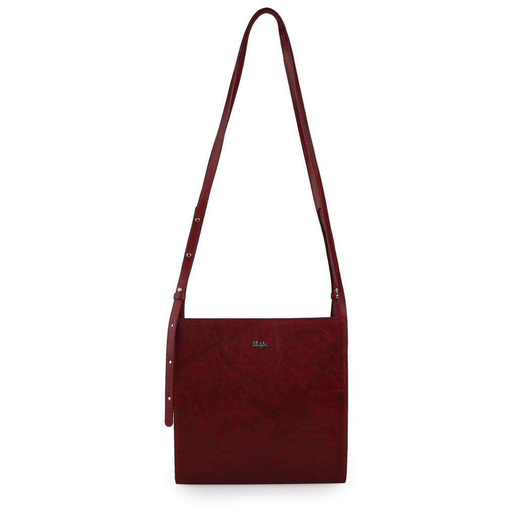 Hajn Dámská kožená kabelka přes rameno 1592015 - vínová