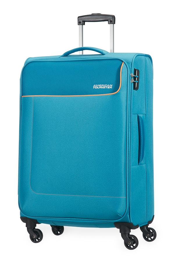 American Tourister Cestovní kufr Funshine Spinner 20G 63,5 l - světle modrá