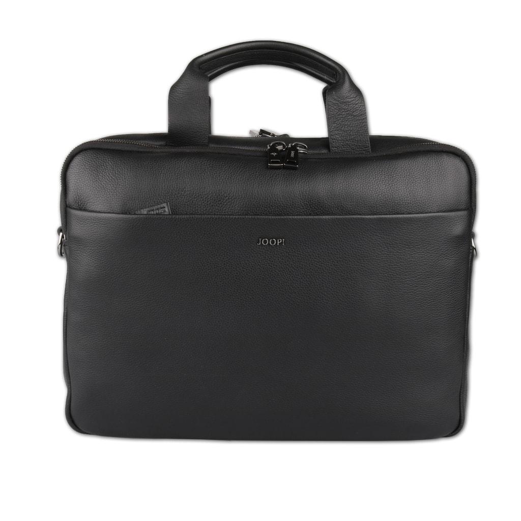 JOOP! Pánská kožená taška přes rameno Cardona 4140003729 - černá