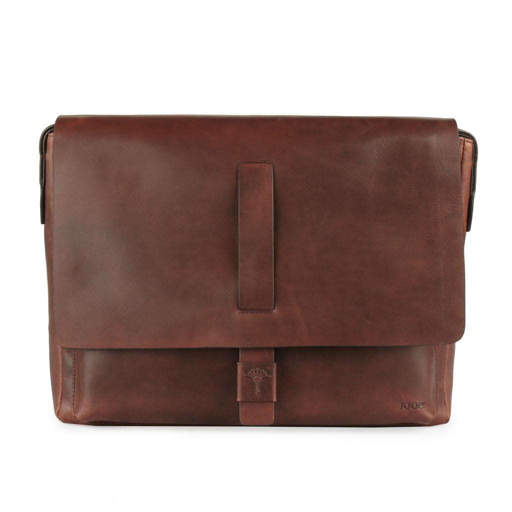JOOP! Pánská kožená taška přes rameno Loreto 4140003466 - hnědá