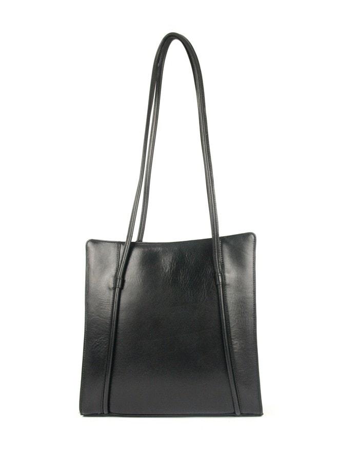 Hajn Kožená kabelka 1056013 černá
