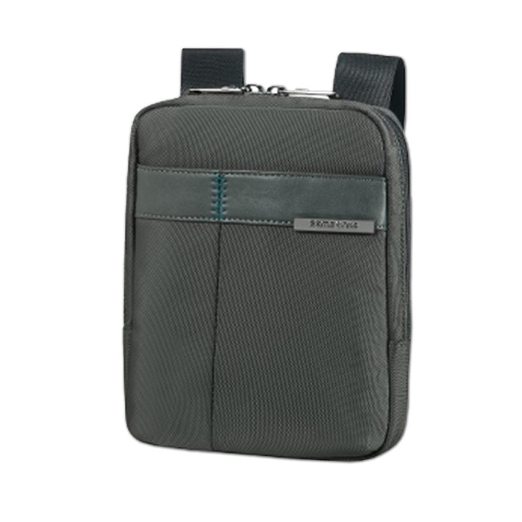 """Samsonite Pánská kožená taška přes rameno 7,9"""" Formalite 62N-001 - šedá"""