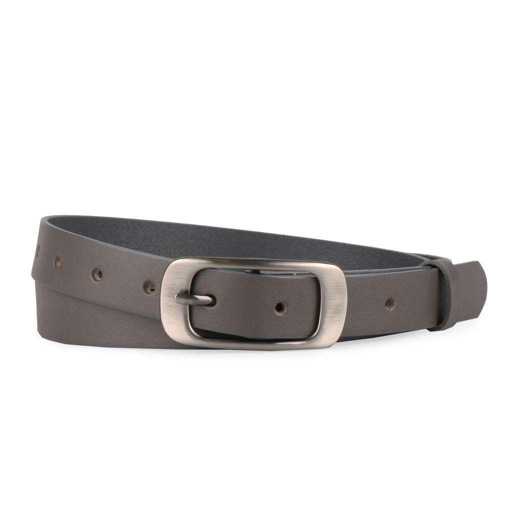 Penny Belts Dámský kožený opasek 173 - šedý