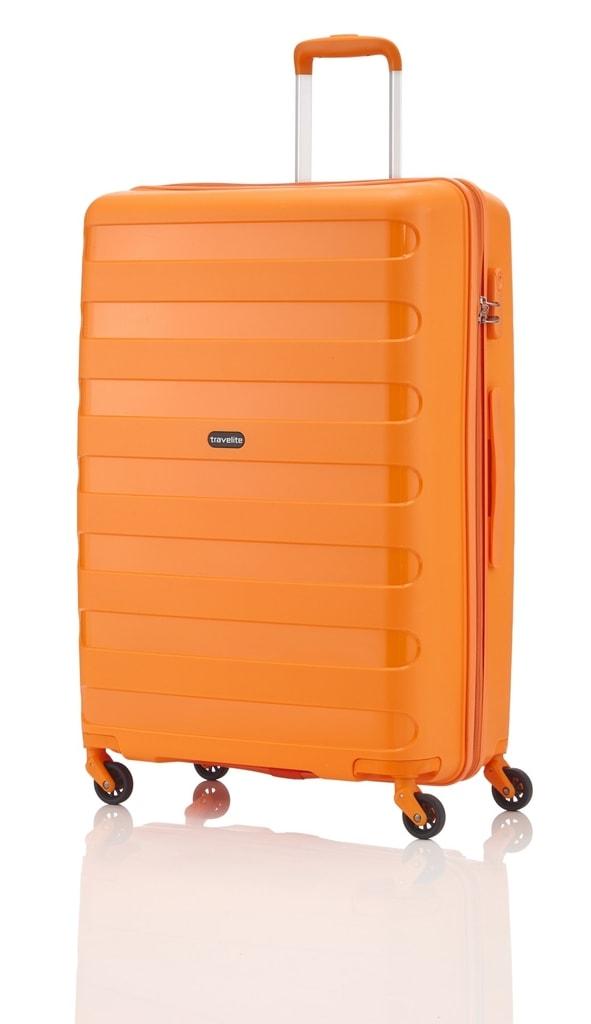 Travelite Cestovní kufr Nova 4w L Orange 99 l