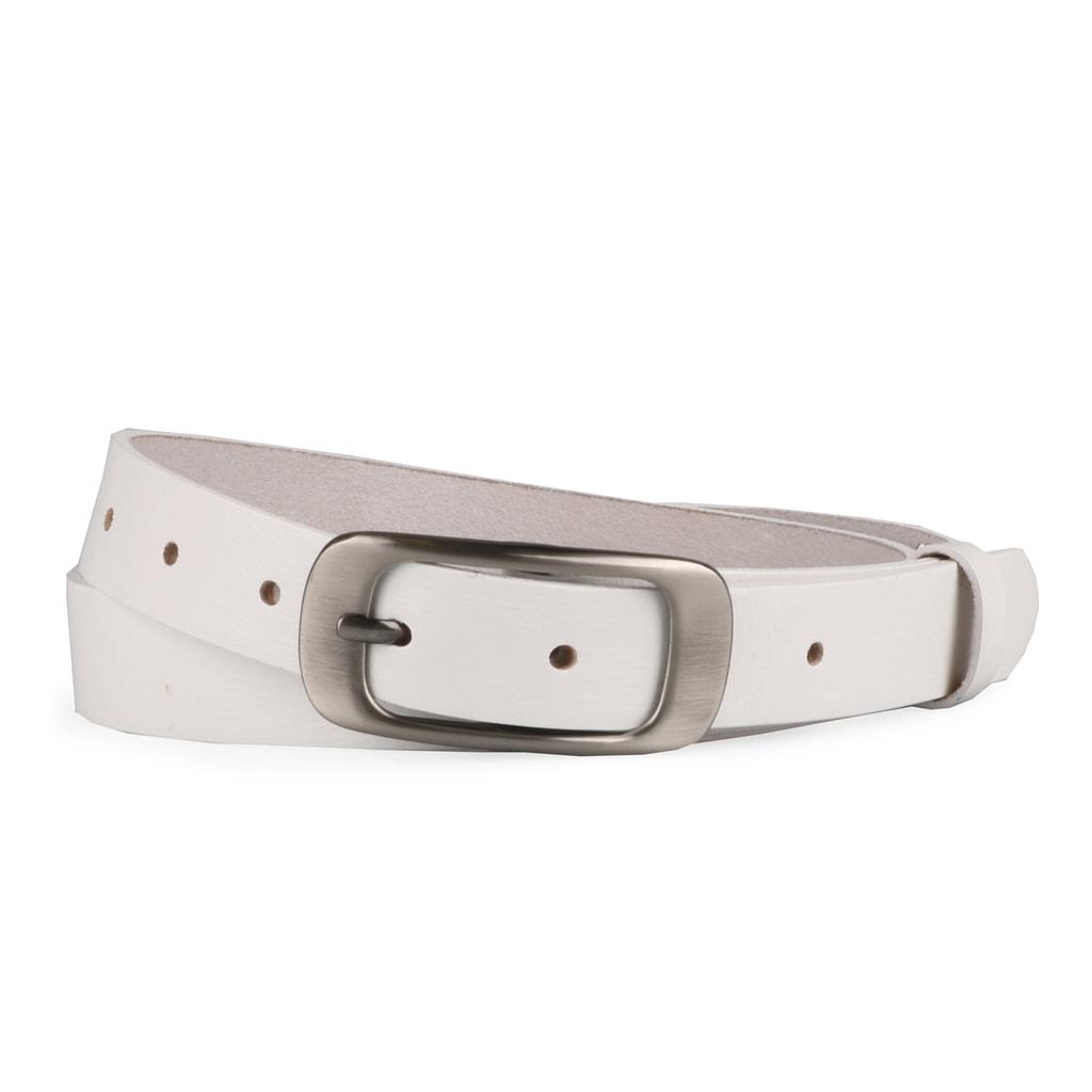 Penny Belts Dámský kožený opasek 173 - bílý