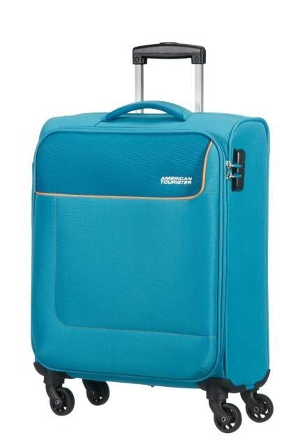 American Tourister Cestovní kabinový kufr Funshine 36 l - světle modrá