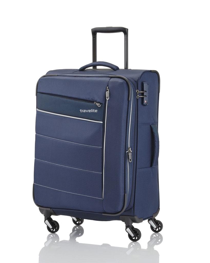 Travelite Kabinový cestovní kufr Kite 4w Trolley 36 l - tmavě modrá