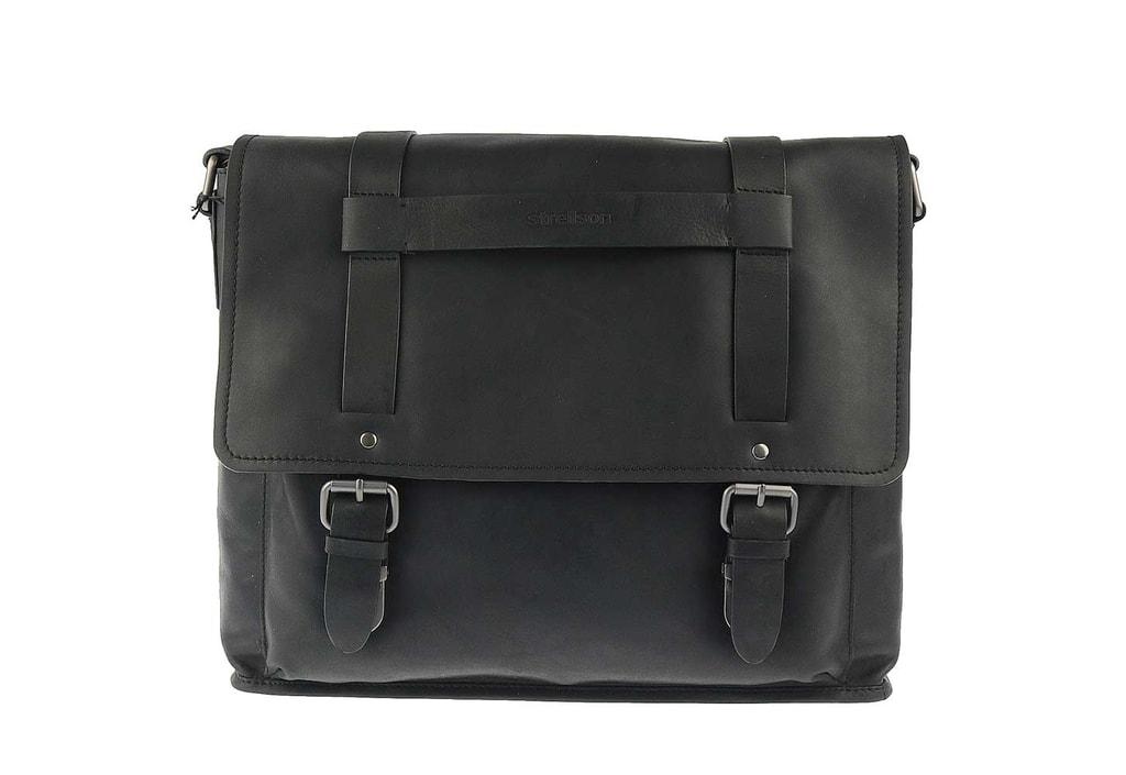 Strellson Pánská kožená taška Messenger H 4010001705 - černá