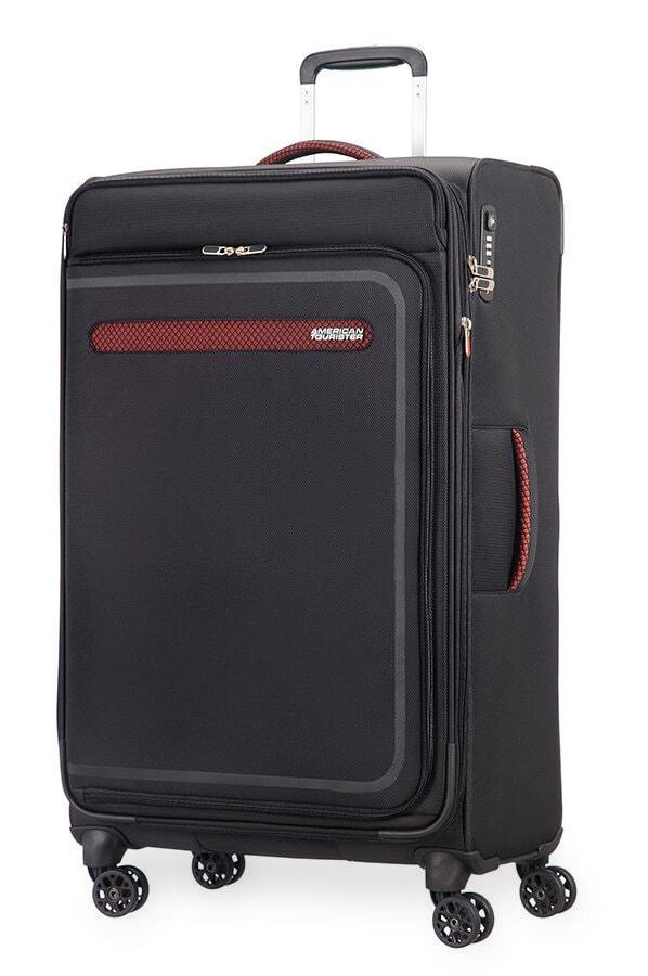 American Tourister Cestovní kufr AirBeat Spinner EXP 45G 104/112 l - černá