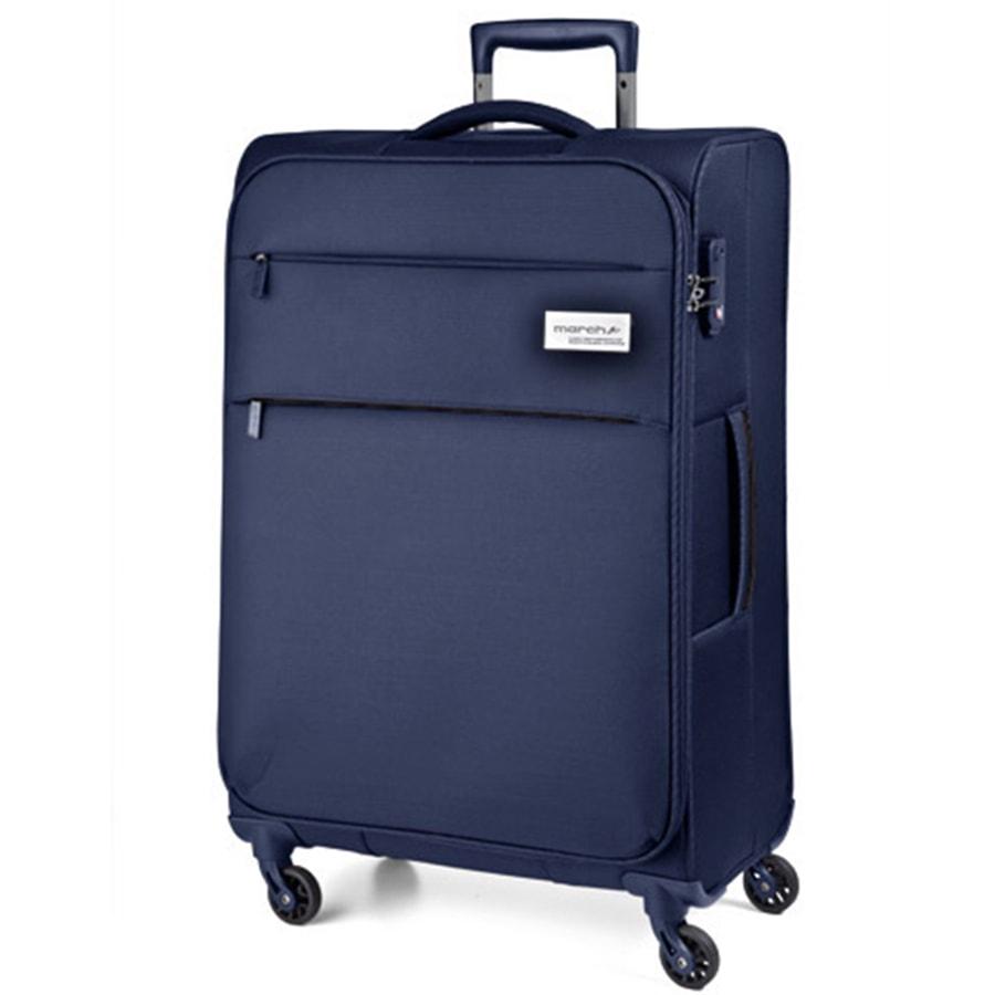 March Velký cestovní kufr Polo 108 l - modrá