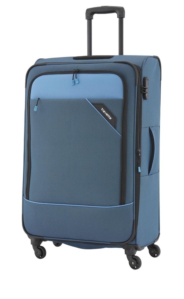 Travelite Cestovní kufr Derby 4w L Blue 87549-20 102/115 l