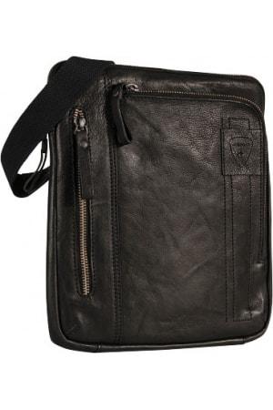 Strellson Pánská kožená taška přes rameno 4010001927, černá